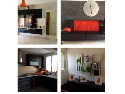 Salon + salle à manger + cuisine
